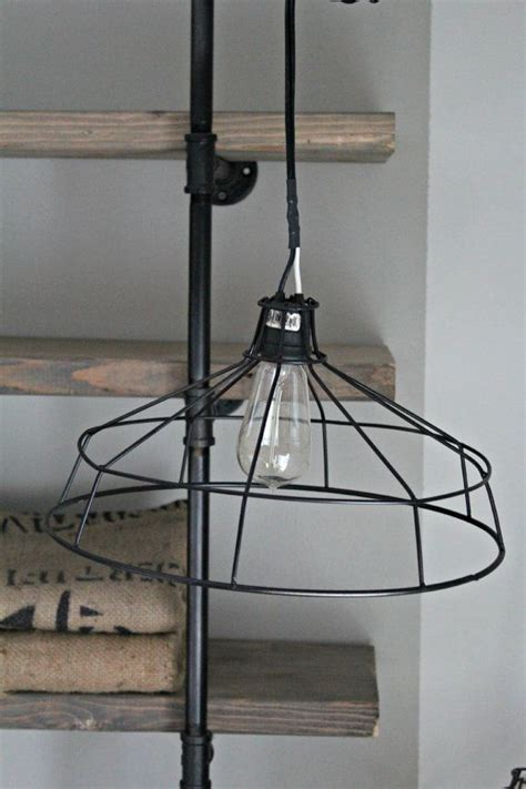 exposed light bulb chandelier hanging metal wire l shade exposed bulb cage light
