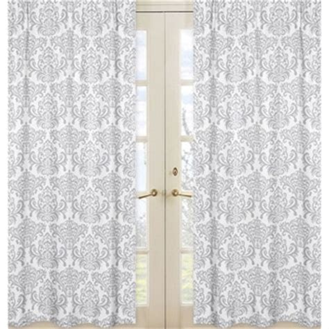 white and gray window curtains sweet jojo designs curtains drapes shop the best deals