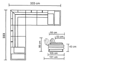 canap d angle dimension canapé d 39 angle relax xl en tissu avec dossiers et