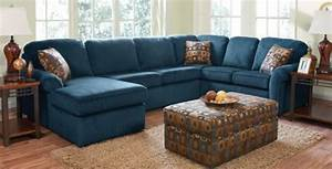 Denim blue sofas for uniquely timeless look in your living for Small sectional sofa denim