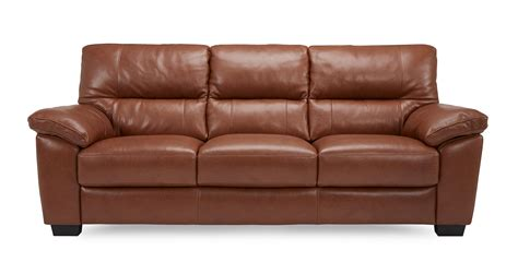 Dalmore 3 Seater Sofa Brazil With Leather Look Fabric