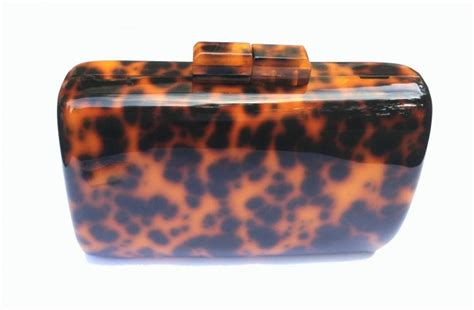 tortoise shell clutch bag rounded