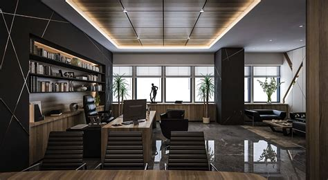 Home Interior Business : Ceo Office Design And Visualization For A Well-known