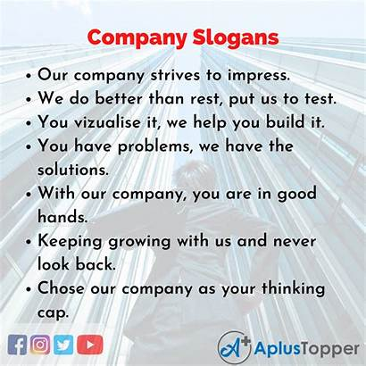 Slogans Company English Catchy Unique Frequently Asked