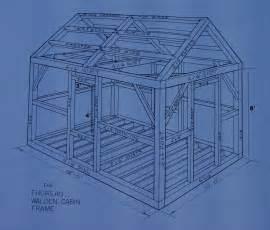 cabin blueprints la cabaña para tomar el té con el protohippie thoreau