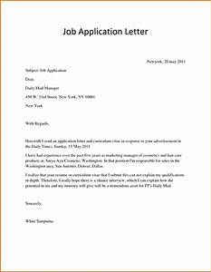 sample application job letterreference letters words With examples of a covering letter for a job application