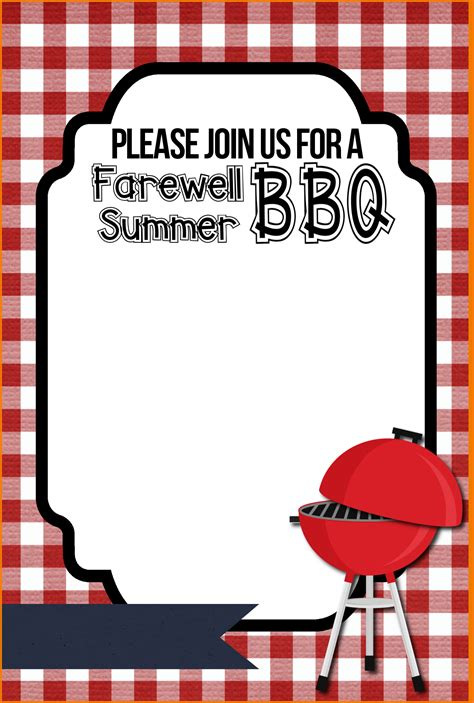 bbq invitation templatev authorization letter