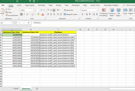 extract and format element of 3 columns in variable table copied by excel rpa express