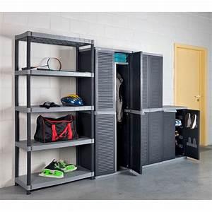 Meuble De Garage : armoire basse harmony gris anthracite 225135 achat ~ Melissatoandfro.com Idées de Décoration