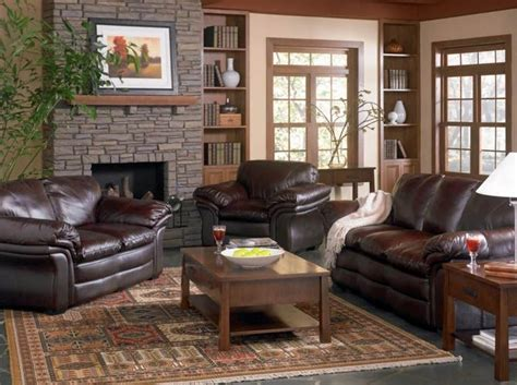 living room decor with leather sofa brown leather couch living room ideas get furnitures for