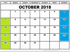 September & October 2018 Printable Calendar Public