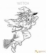 Witch Coloring sketch template