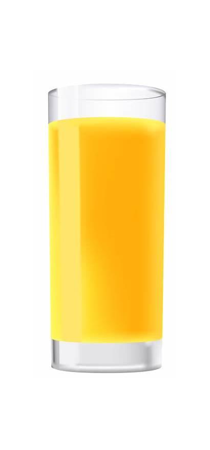 Orange Glass Juice Clipart Naranja Drinks Jugo