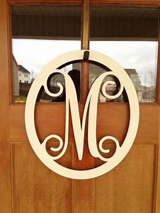 monogrammed metal wreath monogrammed wreath monogrammed With metal door letters