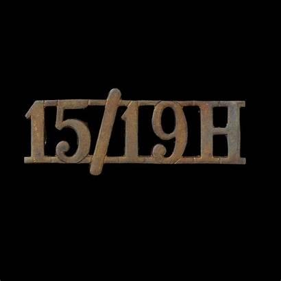 Hussars 15th Badge Shoulder Title 19th Badges