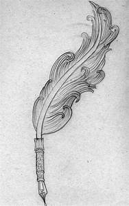 quill tattoo | ... drawing of a feather quill pen that I ...