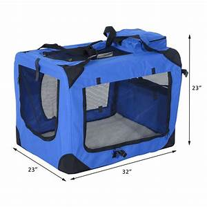32 inch soft sided folding crate pet carrier With soft sided folding dog crates