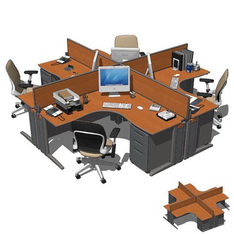 Office Desk Configurations by Office Sets 01 3d Model Formfonts 3d Models Textures