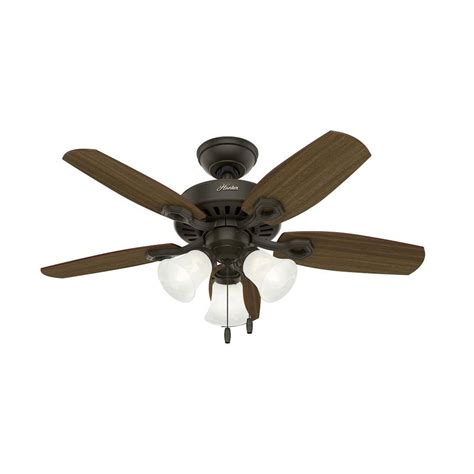 small ceiling fans with lights shop builder small room 42 in new bronze indoor