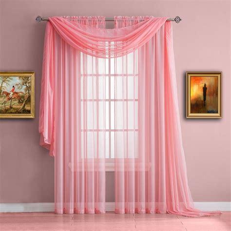 pink sheer curtains warm home designs baby pink window scarf sheer pink