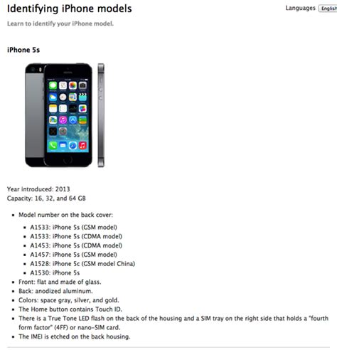 iphone 5s model number iphone 5s model number all differences between iphone 5s