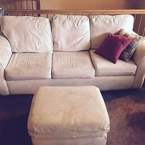 Letgo white fabric 3 piece sofa in laurel md for Laurel 4 piece sectional sofa