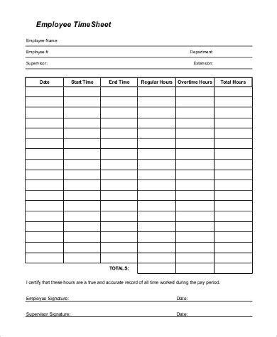 sample employee time sheets  ms excel  ms