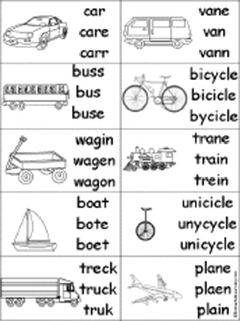 Boat Names With Black In Them by Spelling Worksheets Transportation Vehicles At
