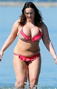Chanelle Hayes Squeezes Her Ample Assets Into A Frilly