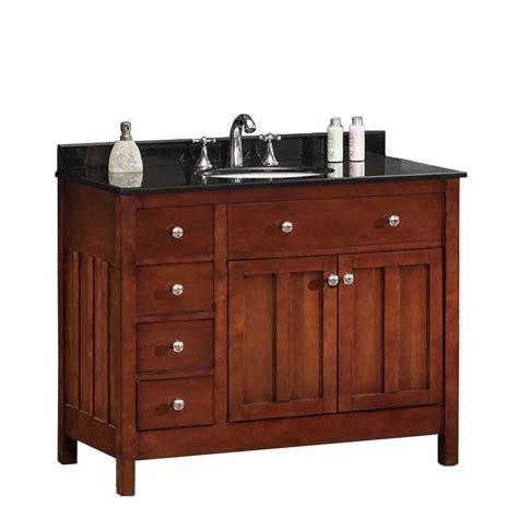 vanity with top ove decors adam 42 in w x 21 in d vanity in cherry