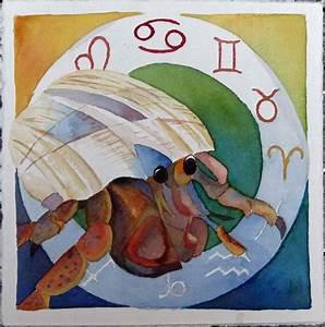 Sternzeichen Krebs Eigenschaften : bild sternzeichen einsiedlerkrebs krebs sternzeichen als aquarell von frank koebsch bei kunstnet ~ Markanthonyermac.com Haus und Dekorationen