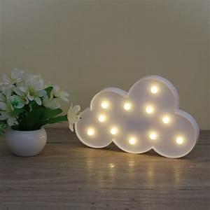 Lampe Mit Buchstaben : 3d festzelt wolke nachtlampe mit 11led batteriebetriebene wei en wolke brief licht f r ~ Watch28wear.com Haus und Dekorationen