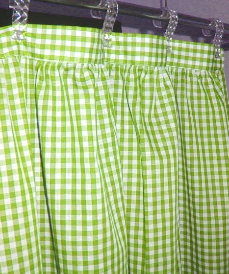 green check curtains lime green gingham check shower curtain 1353