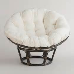 furniture captivating bamboo papasan chair with white