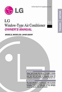 Download Free Pdf For Lg Lwhd1200hr Air Conditioner Manual