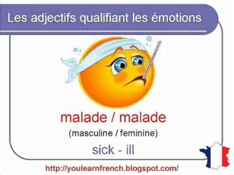 french lesson  adjectives  emotion mood