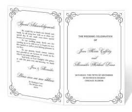 diy funeral programs wedding program template printable instant
