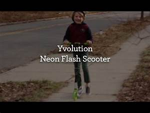 Toys R Us YVOLUTION NEON FLASH SCOOTER IN GREEN
