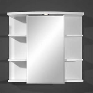 armoire salle de bain avec miroir With porte de douche coulissante avec miroir salle de bain lumineux avec tablette