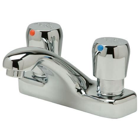 zurn aquasense   centerset  handle bathroom faucet