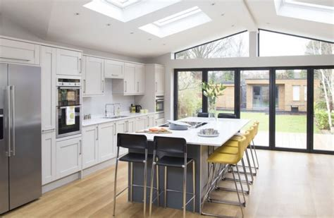 contemporary kitchen extension filled  light