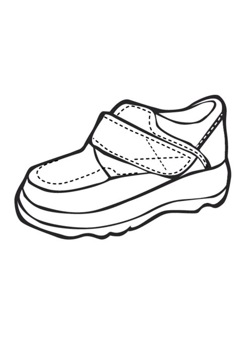 eps shoe printable coloring  pages  kids number