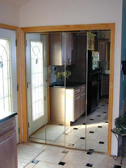 bi fold closet door mirrored sliding closet doors