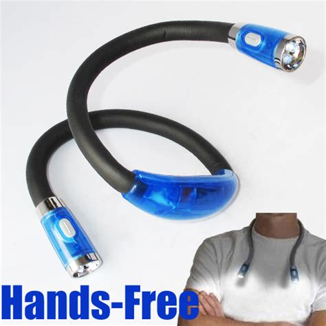 4 Led Hands Free Flexible Neck Light Reading Huglight Ebay