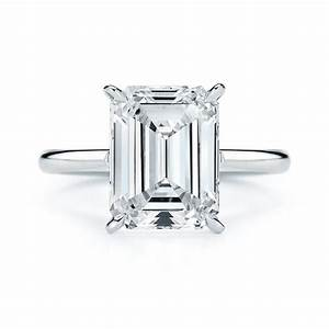 emerald cut engagement rings bridescom With emerald cut wedding ring
