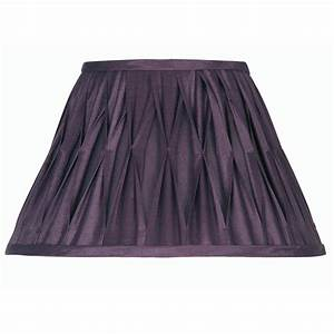 Plum pinched pleat lamp shade 14 inch oaks601 14pl oaks for Floor lamp with plum shade