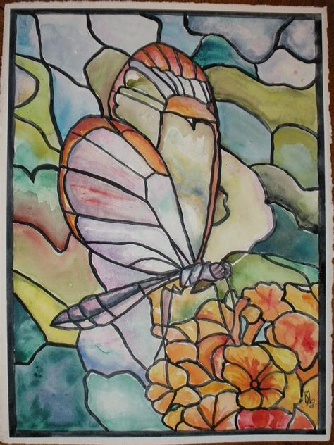 stained glass butterfly  lee stockwell