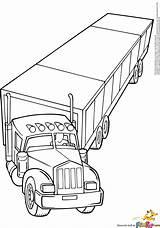 Coloring Truck Semi Mack Wheeler Log Trucks Trailer Logging Drawing Rig Printable Clipart Dump Cars Lifted Garbage Getcolorings Boys Getdrawings sketch template