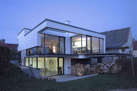 butcher block counter tops modern house glass walls