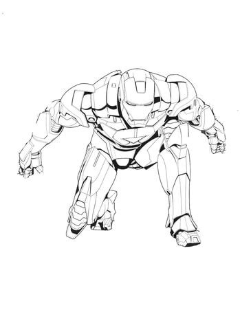 iron man   start coloring page super coloring